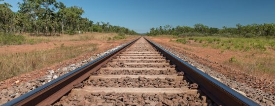 Australian Interstate - Railway track in Australian setting